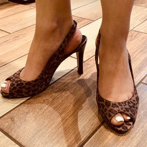 Leopard FIONI pumps 8 great condition